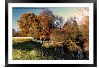 Autumn By The River Leven, Framed Mounted Print