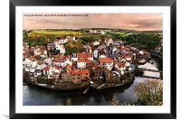 The Village of Staithes , Framed Mounted Print