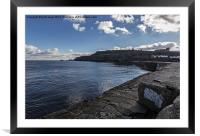 East Cliff Whitby, Framed Mounted Print