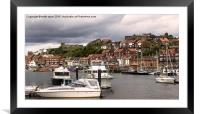 Whitby Harbour , Framed Mounted Print