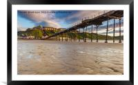 Saltburn in the evening light, Framed Mounted Print