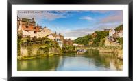 Staithes on a sunny day, Framed Mounted Print