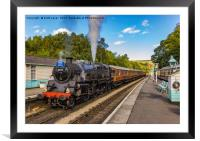 Leaving Grosmont Station, Framed Mounted Print