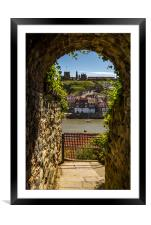 Whitby through the tunnel, Framed Mounted Print