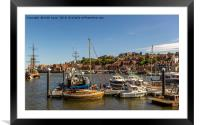 Whitby harbour Yorkshires finest, Framed Mounted Print