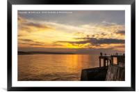 Watching the sunset Whitby, Framed Mounted Print