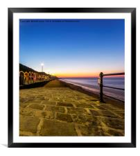 saltburn as the sunsets, Framed Mounted Print