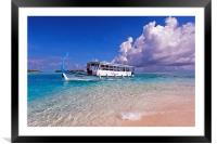 In Harmony with Nature. Maldives, Framed Mounted Print