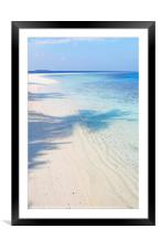 Endless Blues. Light and Shadows                  , Framed Mounted Print
