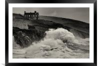 cliff top house, Framed Mounted Print