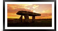 Lanyon quoit, Framed Mounted Print