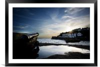 Harbour guard, Framed Mounted Print