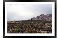 Granite Mountains, Framed Mounted Print