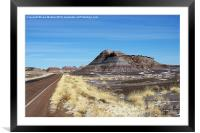 Road through the Painted Desert, Framed Mounted Print