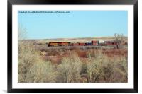 Freight train!, Framed Mounted Print