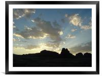 Glen Canyon, Utah, Desert Sunrise, Framed Mounted Print
