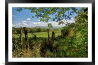 Lancashire Views Of Pendle Hill, Framed Mounted Print