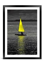 Lone sail, Framed Mounted Print