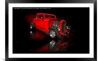 American heartbeat, Framed Mounted Print