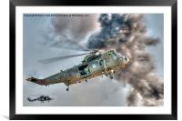 Royal Navy Sea King Helicopter, Framed Mounted Print