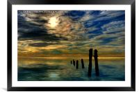 Sandsend Groynes at Sunrise, Framed Mounted Print