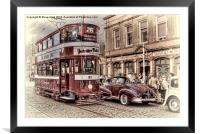 Middleton Tram - Hand Tinted Effect, Framed Mounted Print