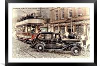 Paisley District Tram - Hand Tinted Effect, Framed Mounted Print
