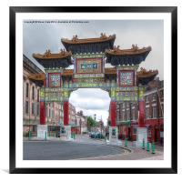 Gateway to Chinatown - Liverpool, Framed Mounted Print