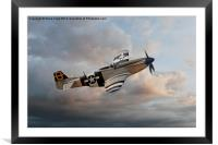 Jumpin Jacques - P51 Mustang, Framed Mounted Print