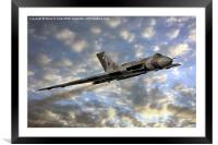 The Sun Sets on XH558, Framed Mounted Print