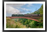 Taw Valley over the Severn Valley, Framed Mounted Print