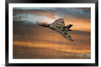 Avro Vulcan XH558 At Sunset, Framed Mounted Print