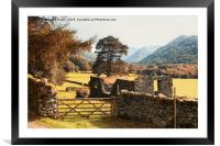 Lake District Hikking in Patterdale, Framed Mounted Print