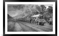 Vintage Steam Freight Train, Framed Mounted Print