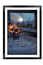 The steam shed yard., Framed Mounted Print