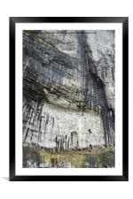 Climbers at Malham Cove, Framed Mounted Print