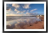 Reflections on Torre Abbey Sands Torquay, Framed Mounted Print