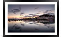 Sunset over Torquay, Framed Mounted Print