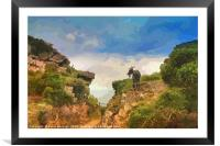 Goat at Valley of The Rocks North Devon, Framed Mounted Print