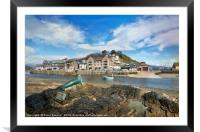 View of Nelson the seal across The River Looe , Framed Mounted Print