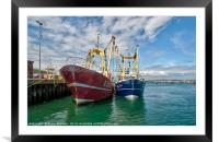 Fishing Trawlers at Brixham, Framed Mounted Print