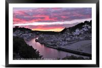 Looe at Sunset from Hannafore West Looe, Framed Mounted Print