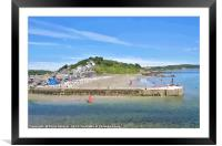 Summer's Day at Looe in South East Cornwall, Framed Mounted Print