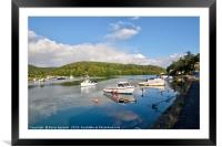Early morning on The River Looe  in Cornwall, Framed Mounted Print