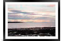 Late evening sunset in Lossiemouth, Framed Mounted Print
