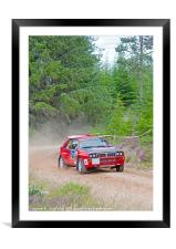 lancia delta integrale rally car, Framed Mounted Print