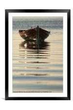Small Boat Reflecting At Moorings, Framed Mounted Print