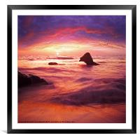 fantasy waterscape, Framed Mounted Print