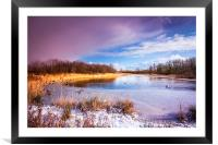 Waters Edge Country Park Barton upon Humber North , Framed Mounted Print