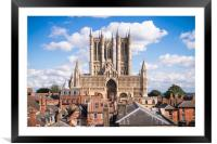 Lincoln Cathedral , Framed Mounted Print